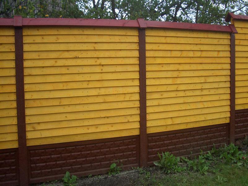 Деревянный забор в Воскресенск, Московская область.