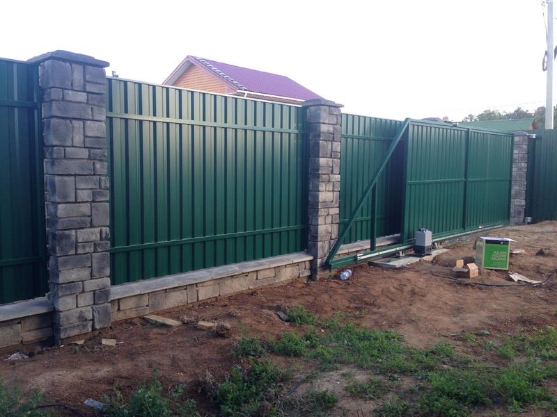 откатные ворота для забора Воскресенск