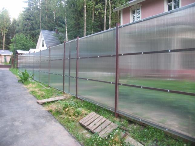 Забор из поликарбоната Воскресенск