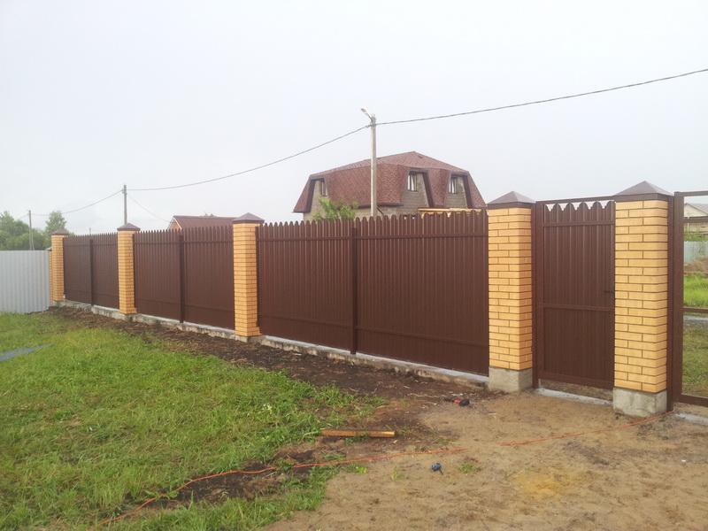 Забор из профлиста Воскресенск