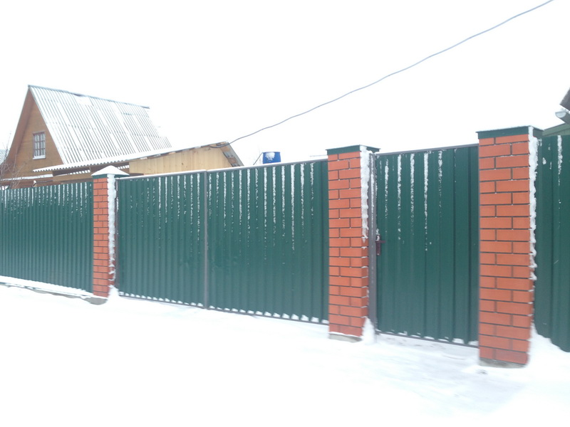 кирпичный забор Воскресенск