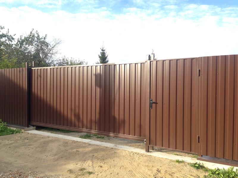 Забор из профнастила в Воскресенске