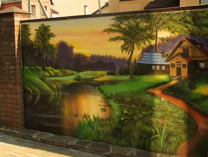 Роспись заборов Воскресенск