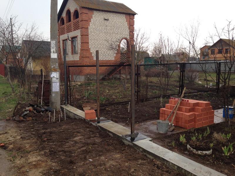 Кладка кирпичных столбов Воскресенск