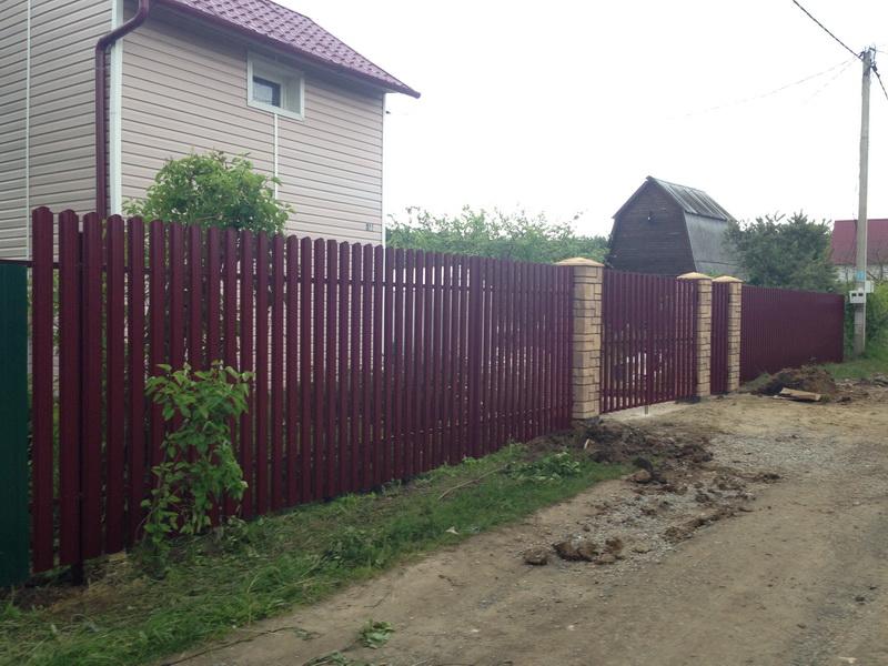 Металлический штакетник Воскресенск