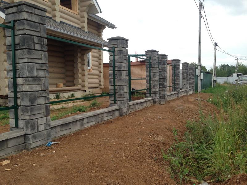 Забор из декоративных блоков воскресенск
