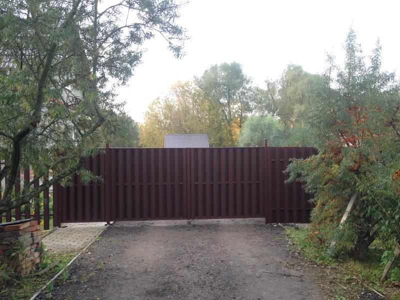 Заказать забор из евроштакетника Воскресенск