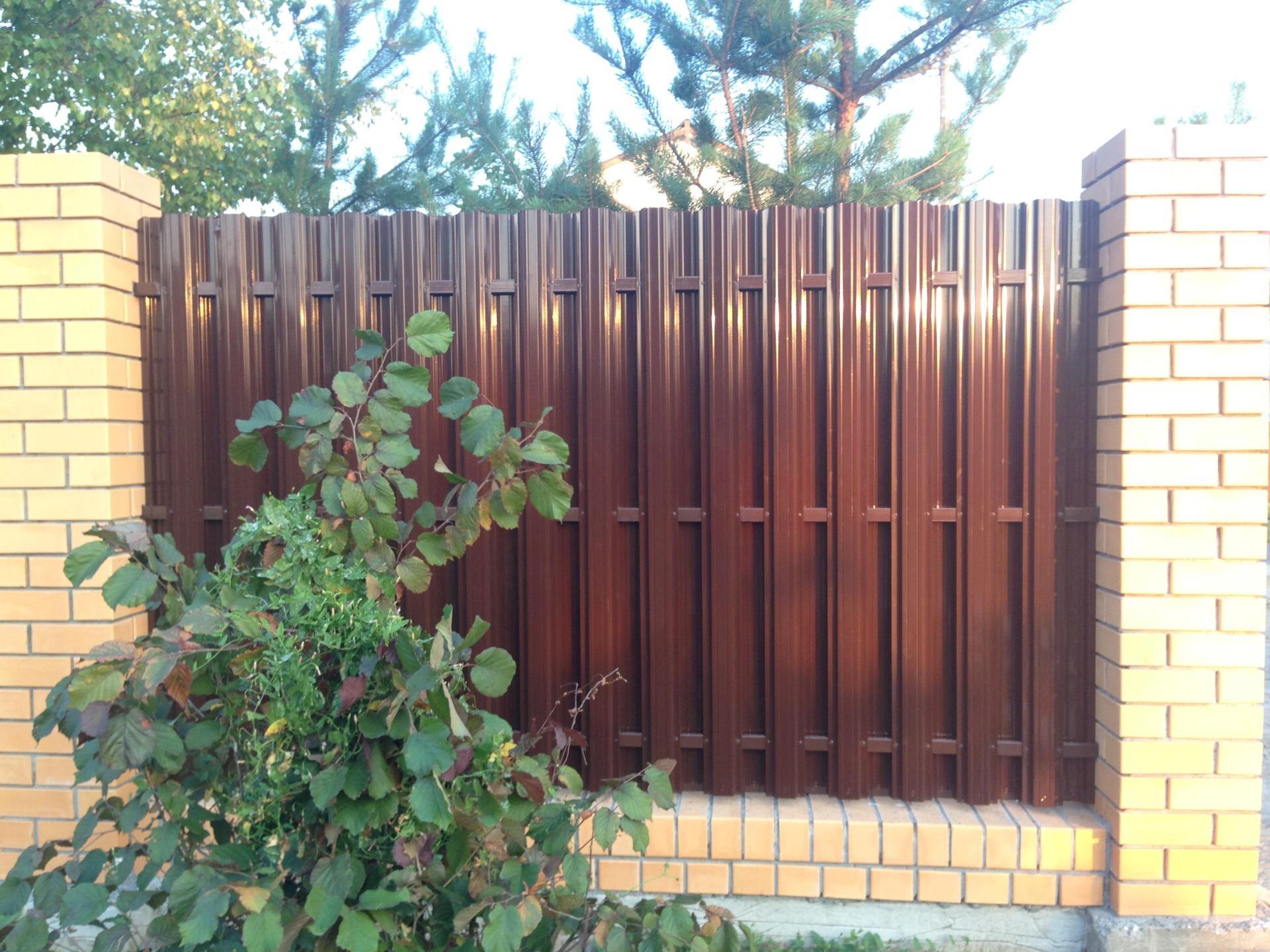 Забор из евроштакетника Воскресенск